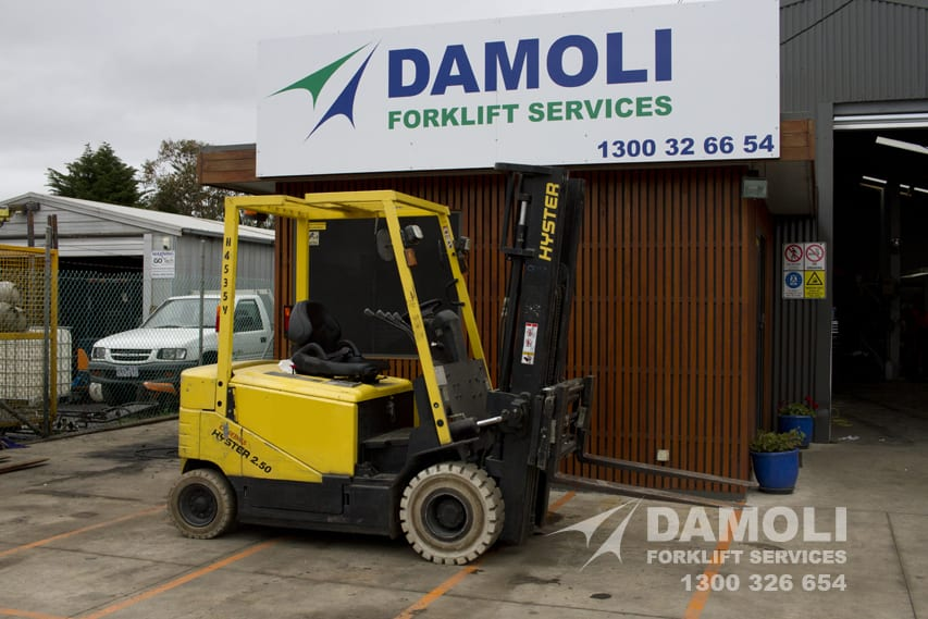 2 5 Tonne Container Mast Hyster Forklift   Damoli Group