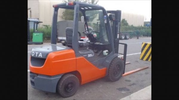 Orange Forklift